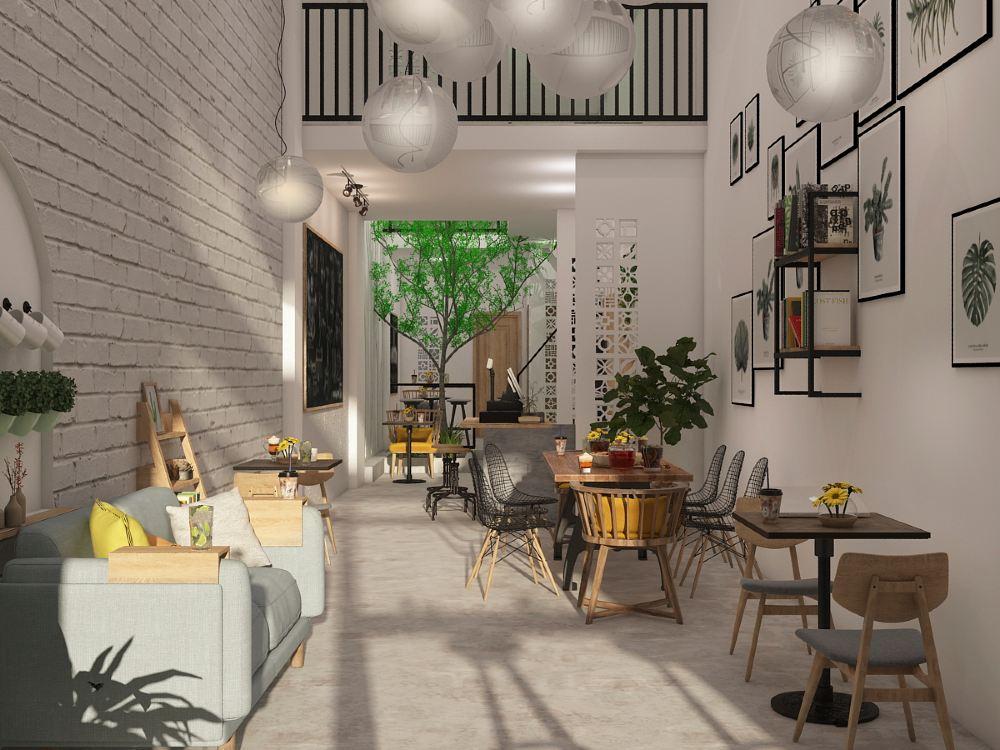 Mô hình quán cafe phong thủy
