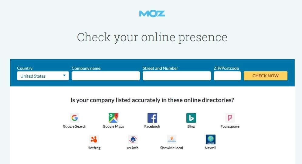 phần mềm seo website Moz