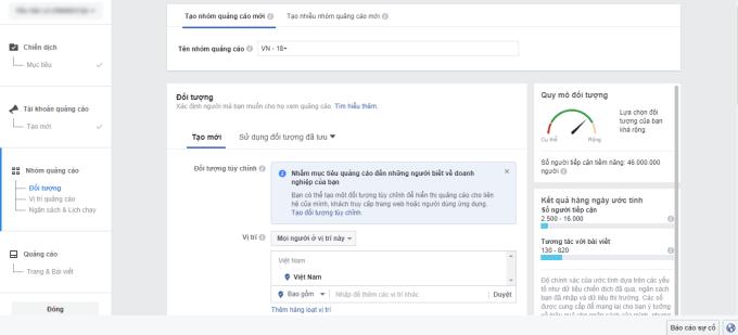 Xác định đối tượng quảng cáo Facebook