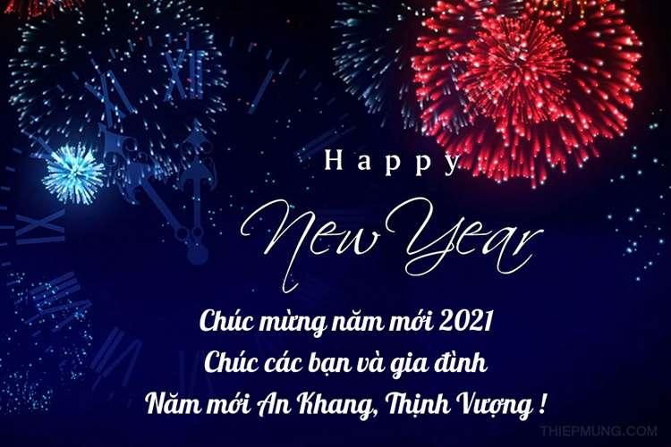 Tạo thiệp chúc mừng năm mới 2021 online