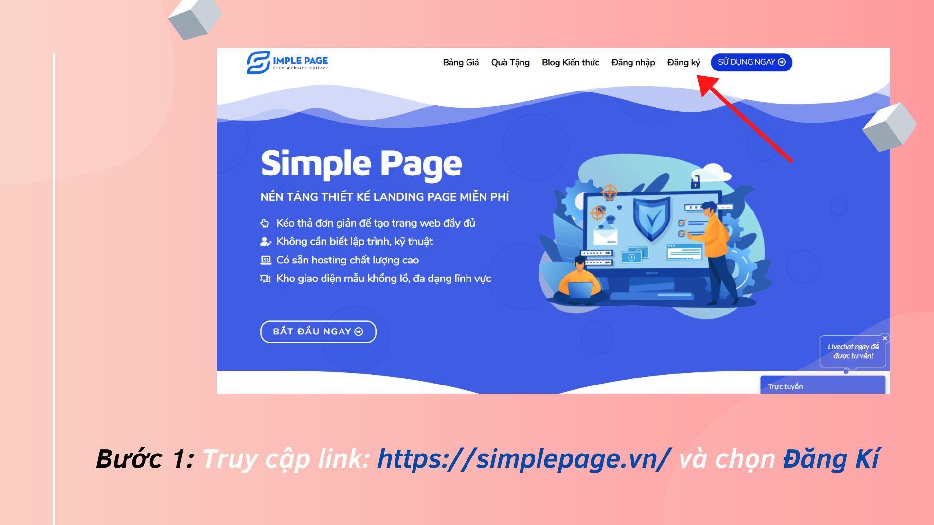 Hướng dẫn cách làm Landing Page Free tại Simple Page | Quan Nguyên Phát