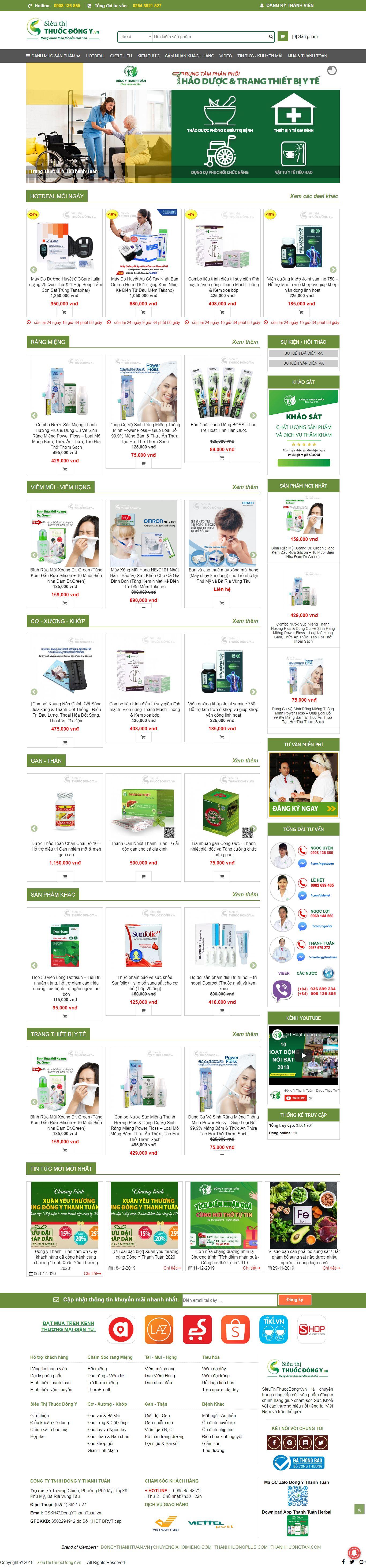 Thiết Kế Web Nhà Thuốc đông Y - VietWebGroup.Vn
