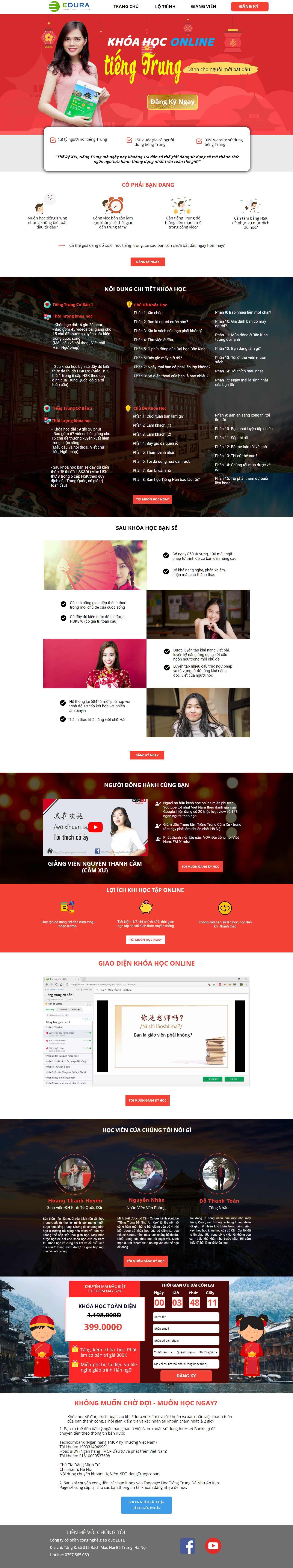 Thiết Kế Landing Page khóa học online