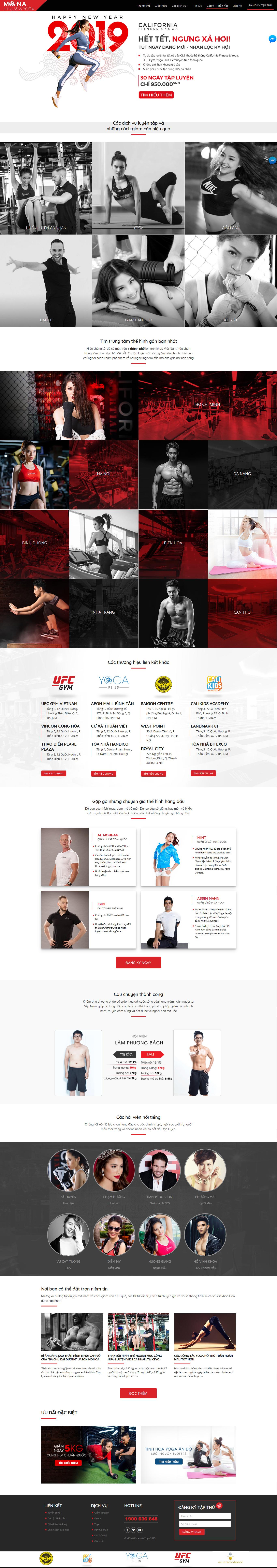 Mẫu landing page phòng gym tương tự California - Mẫu website bởi Mona Media
