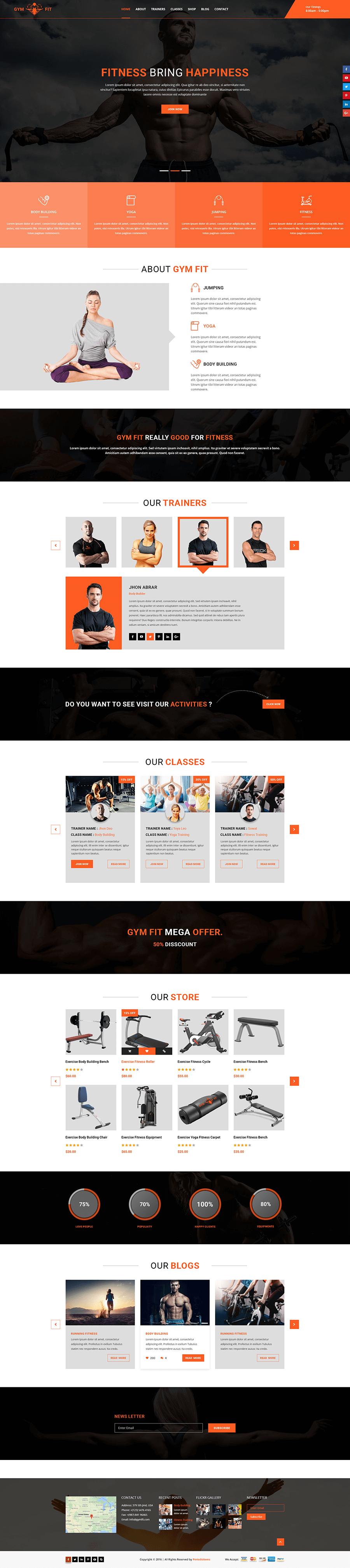 Thiết kế website phòng Gym, yoga | Độc quyền chuẩn SEO | Mona Media