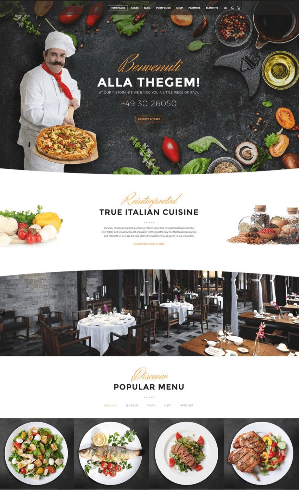 Mẫu Landing Page Nhà Hàng | Nhà hàng
