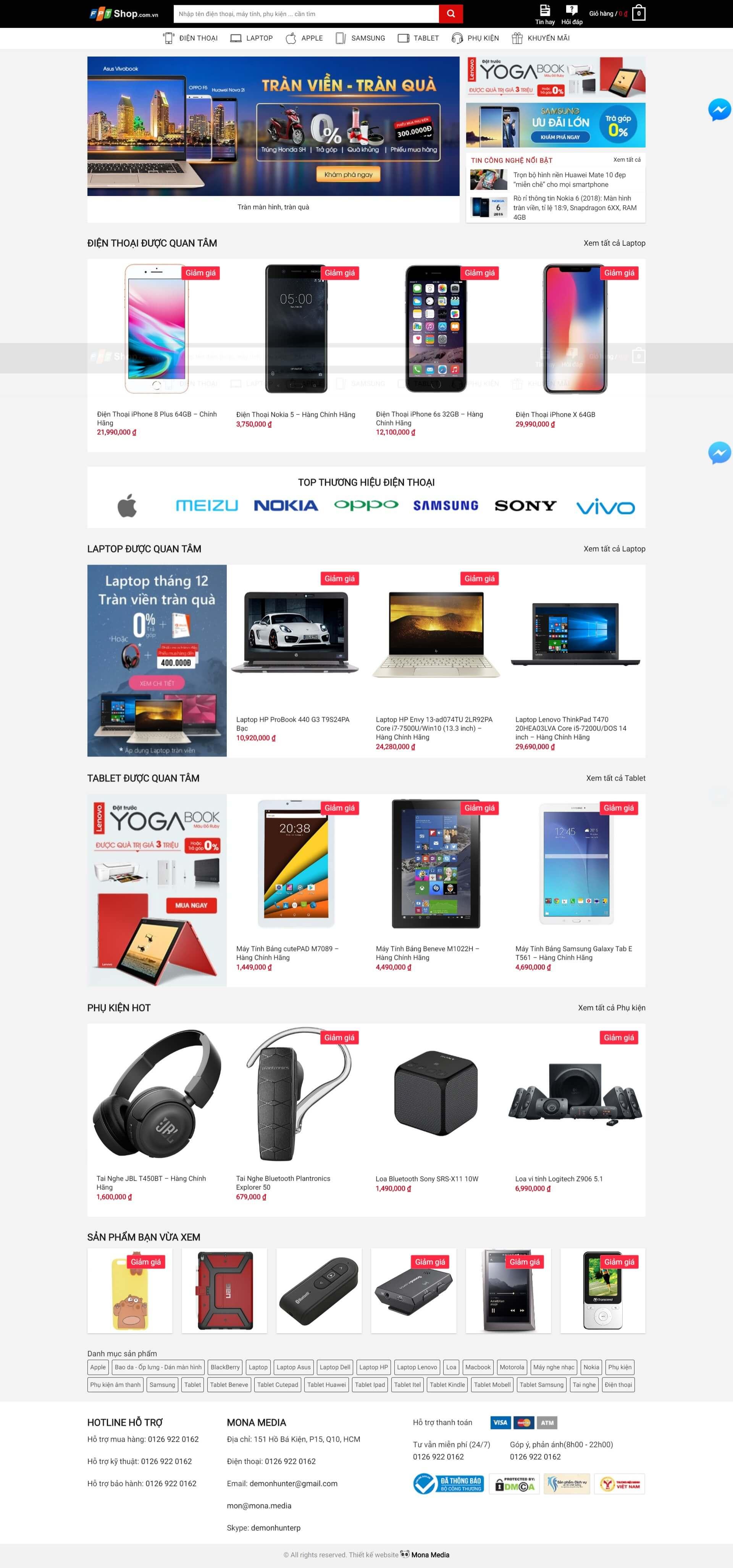 Mẫu website bán hàng phụ kiện điện thoại | Thiết kế website bán hàng phụ  kiện điện thoại