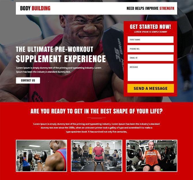 Landing page bán hàng về gym sử dụng những mẫu ảnh đầy sức mạnh