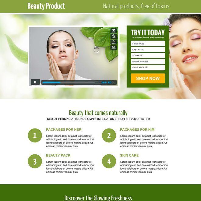 Landing page bán hàng sản phẩm làm đẹp tự nhiên