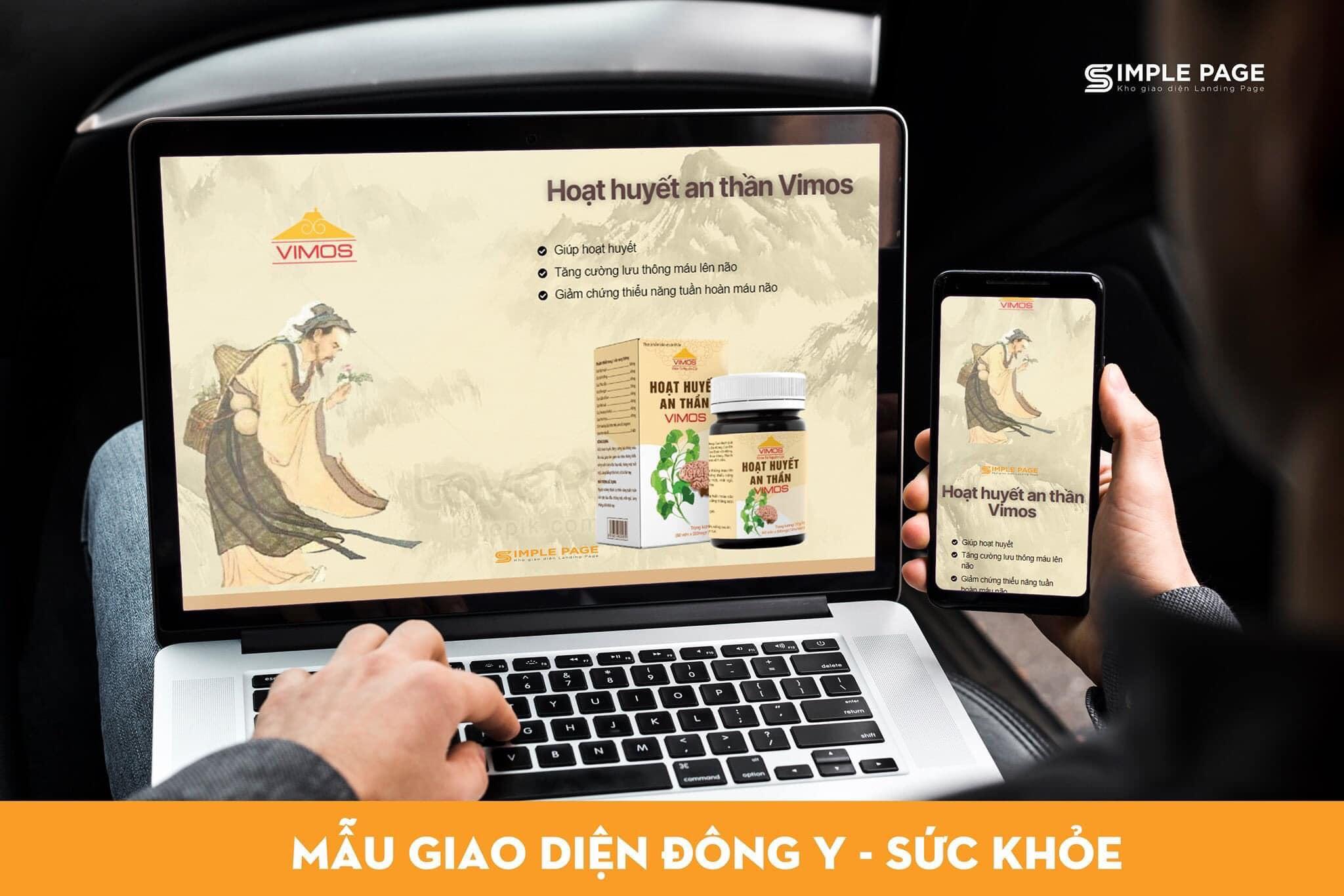 Landing Page về Đông y – Sức Khỏe