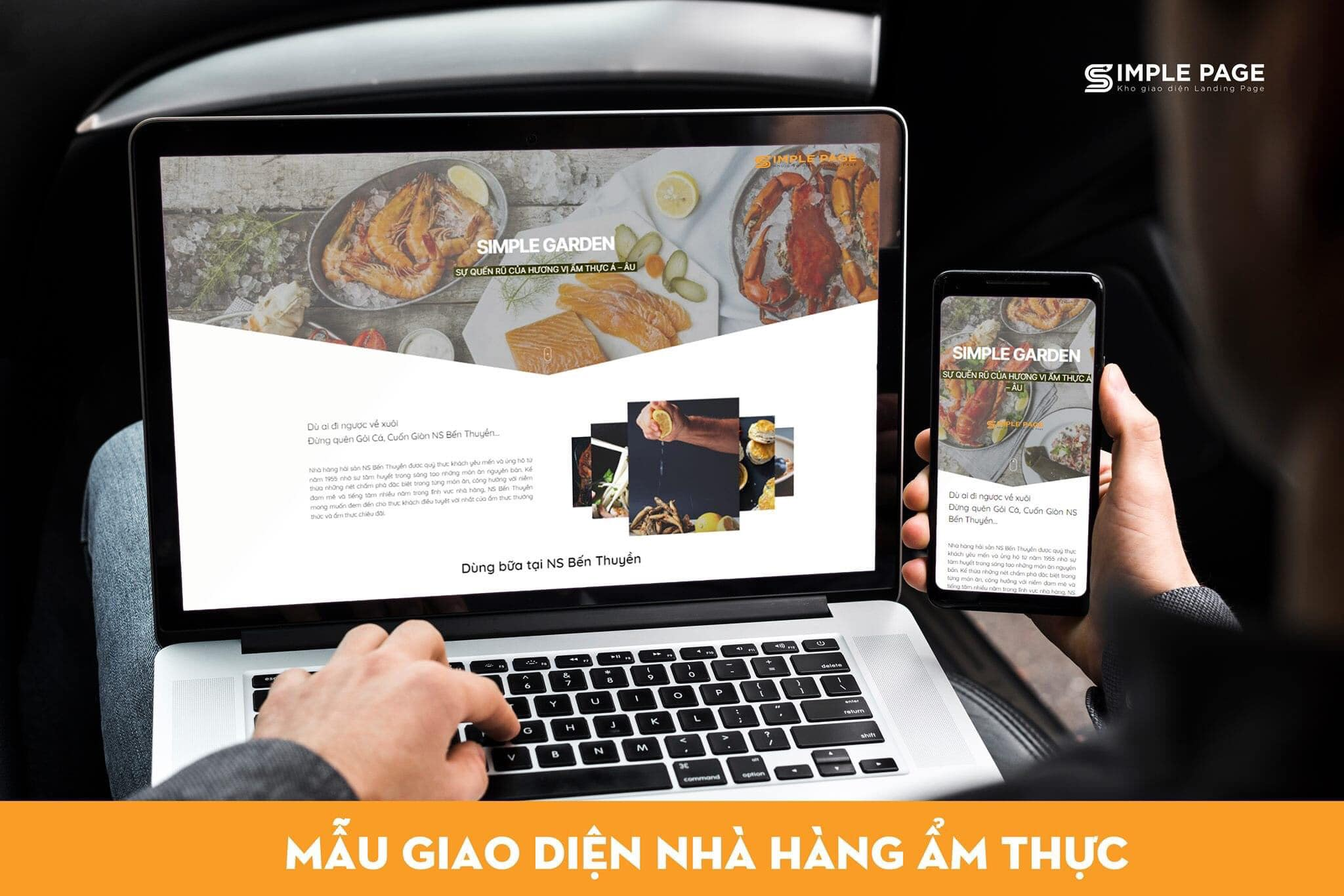 Landing Page về Nhà hàng – Ẩm Thực