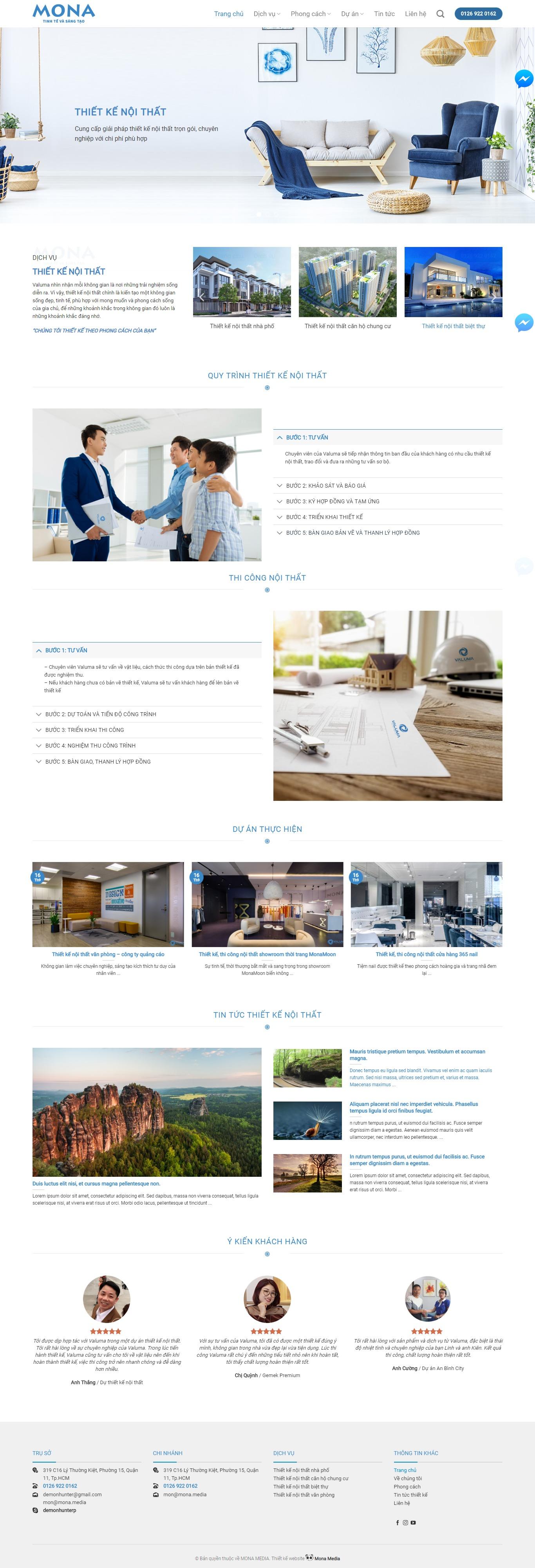 Mẫu Website Bán Hàng Nội Thất Đẹp- Theme Và Template Ấn Tượng