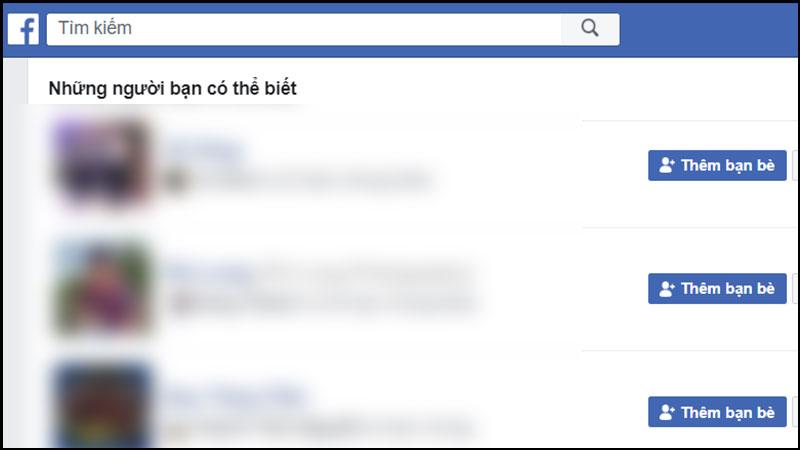 Những người bạn có thể biết giao diện website