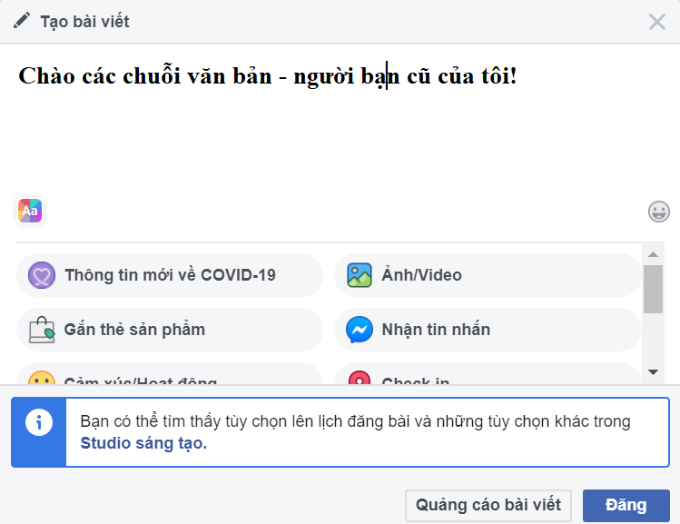 Kết quả hình ảnh cho Cách viết chữ in đậm trên Facebook để tạo ấn tượng