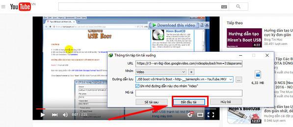 Download video Youtube dễ dàng hơn với IDM