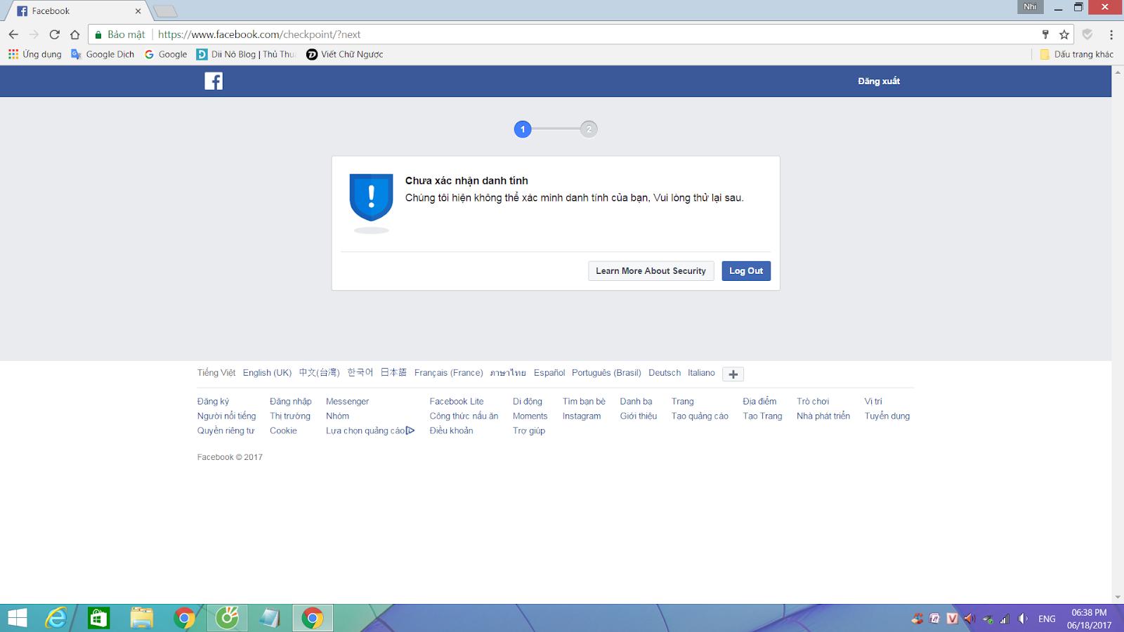 Nếu tài khoản cá nhân của người sử dụng bị khóa thì con người có khả năng tiến hành truy cập vàolink xác minh danh tính Facebook. Sau đấy làm theo từng bước hướng dẫn: