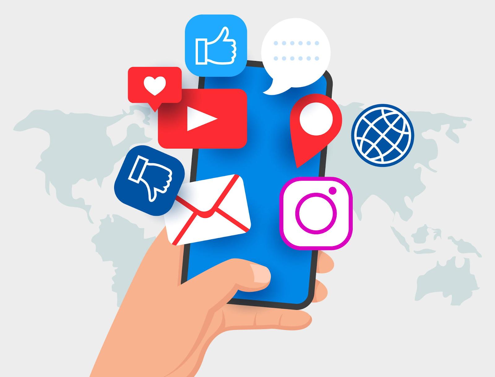 Social Media marketing gồm có các chương trình tiếp thị thường tập trung vào những nỗ lực để sản sinh ra nội dung thu hút sự chú ý và khuyến khích độc giả chia sẻ nó trên mình các mạng xã hội