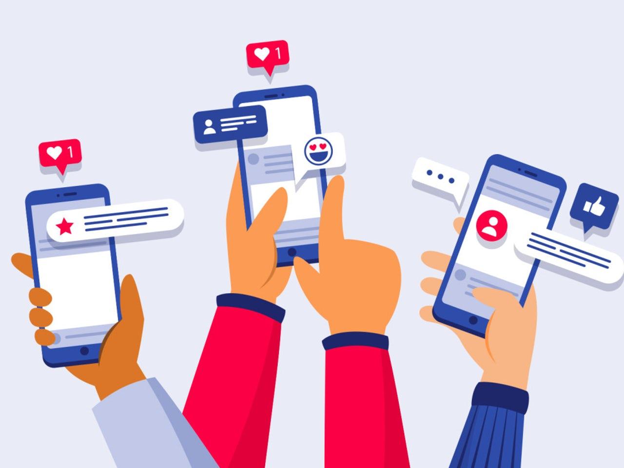 Xét về số lượng, sẽ cực kì khó có con số chính xác về số trang web và ứng dụng đang tồn tại. Vì vậy người ta chia social mediathành 4 phần nhỏ dựa vào thuộc tính của site và áp dụng.